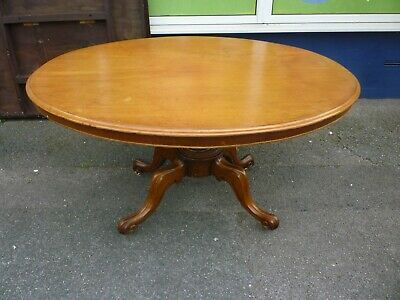 Victorian Mahogany Tilt Top Oval Dining Table