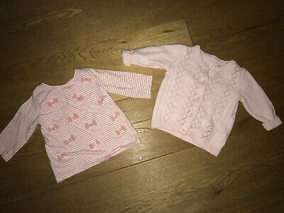 Marks And Spencer And Next Set Of Two Cardigans Age 3-6 Months