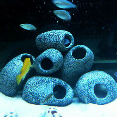 New Cichlid Stone Resin Rock Cave Aquarium Fish Tank Home Ornament Decoration