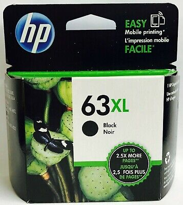 New Genuine HP 63XL Blk Ink Cartridge Deskjet 2136 3630 3631 Envy 4526 4527 4528