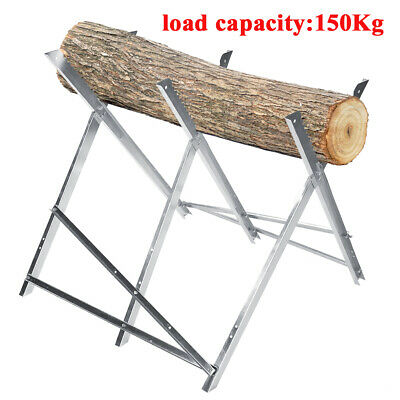Heavy Duty Log Folding Saw Horse Holder Timber Cutting Chainsaw Trestle