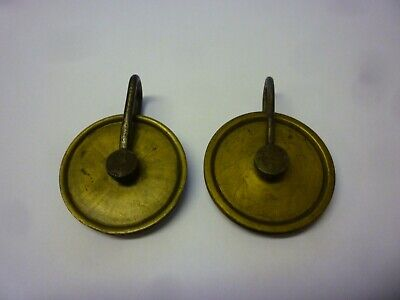Pair Of 18th Century 8 Day Grandfather Clock Weight Pulleys (7z)