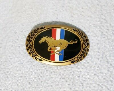Vintage Ford Mustang Emblem Belt Buckle Solid Brass Heritage Buckles Badge Logo*