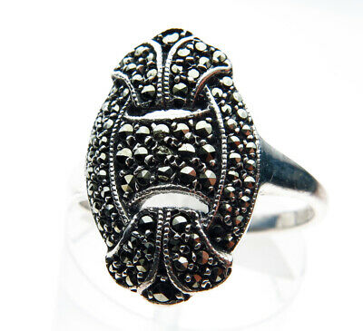 Art Deco Silver and Marcasite Vintage Ring