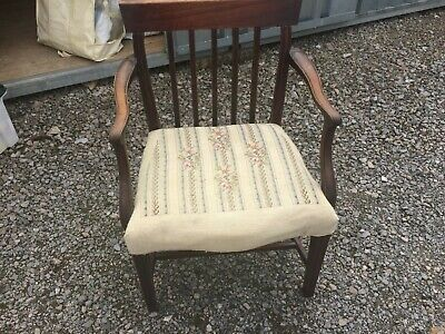 Hepplewhite chair repaired /modified in solid condition requires new upholstery