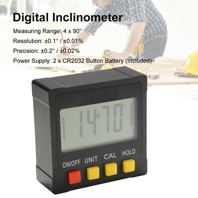Digital Inclinometer Protractor Angle Measuring Level Box w/ LCD Display BI1077
