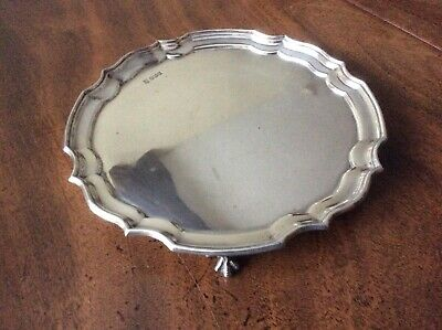 Vintage Silver Small Salver Large Card Tray Sheffield.