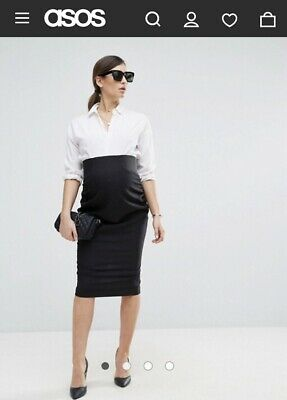 Asos Maternity Black Skirt Uk12