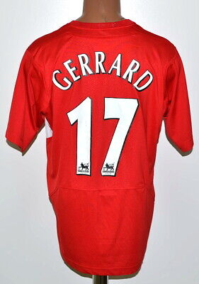 Liverpool 2004/2005/2006 Home Football Shirt Jersey Reebok #17 Gerrard Size M