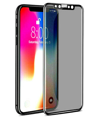 5D Premium Privacy Tempered Glass Screen Protector For iPhone 7 XS Max Anti Spy