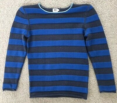 KIN JOHN LEWIS 100% Cotton Striped Boys Jumper Age 9 / 134 cm. Perfect Cond