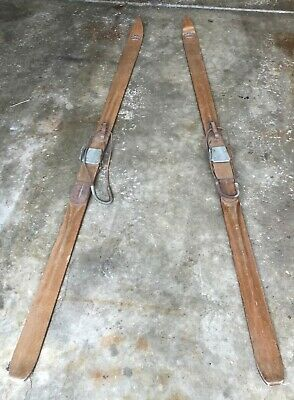 "Pair Of Antique Northstar Wooden Skis ** 76"" L"