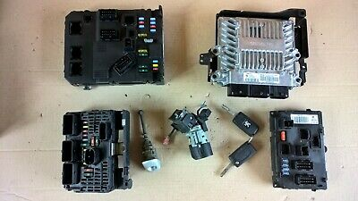 Peugeot 407 2.0Hdi Siemens Rhr Ecu Set Bsm Bsi Ignition Key 2006