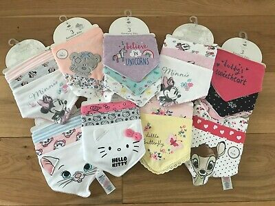 Disney Baby Primark tatty teddy Bandana Bibs Feeding Gift Girls Character Cute