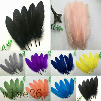 Wholesale 15-20cm / 6-8inches 50/100pcs Beautiful Natural Goose Feather