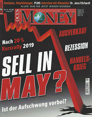 Zeitschrift Focus Money - Heft Nr. 21/2019 - Titel: Sell in May?