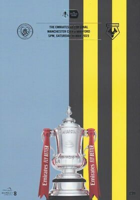 FA CUP FINAL PROGRAMME 2019 Manchester City v Watford - MINT