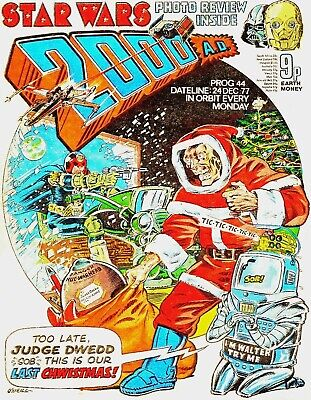 2000AD Prog 44 1st Christmas Issue Judge Dredd  Comic Mid > HIGH GRADE 1977
