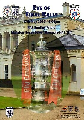 FA Cup Final 2019 - Manchester City v Watford - Eve of Final SIGNED programme