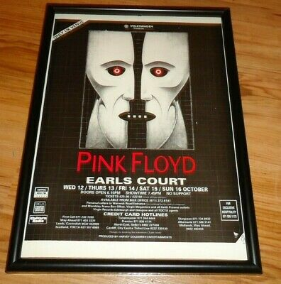 PINK FLOYD earls court 1994 framed original press release promo poster