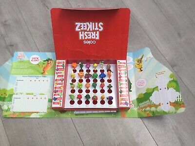COLES STIKEEZ FULL SET of 24 MINI COLLECTABLES INCLUDING CASE