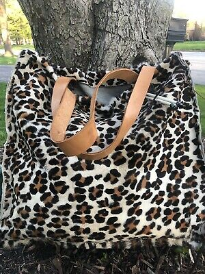 Hobo/ Soho , Bag Tote Purse Leopard Pattern Xlarge Beautiful. 5days Only Fur !