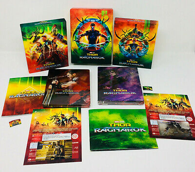 Thor Ragnarok FilmArena 3D + 2D Blu ray Steelbook Lenticular or Full Slip or Box