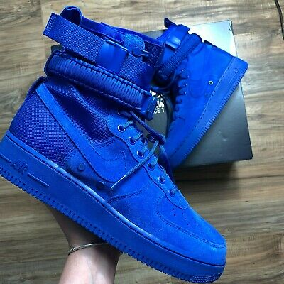 sports shoes ece10 6aacd Nike Mens Air Force 1 Special Field Boots SF AF1 Royal Blue 864024-401 Size