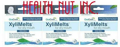 XyliMelts dry mouth discs, mild-mint, 120 discs total , 3-pack, all-natural