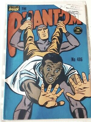 Frew Phantom comic book issue 486 cut corner o/w As new  Excellent condition