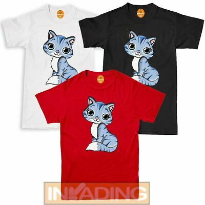 Summer Kitty Printed Kids Womens T-shirt Short Casual Funny Doo Cat Girls Tshirt