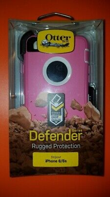 New! OtterBox Defender For Apple iPhone 6 & iPhone 6s Case wClip Pink SHIPS NOW