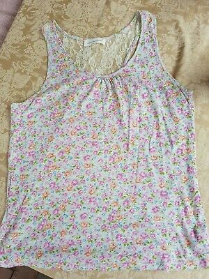 Peter Alexander womens size S sleeveless floral lace top