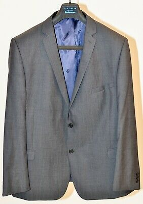 Ted Baker Endurance Men's Grey Business Suit Size 50R Jacket with 36R Trousers