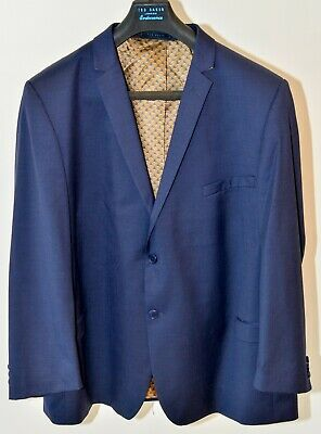 Ted Baker Endurance Men's Blue Business Suit Size 54R Jacket with 40R Trousers