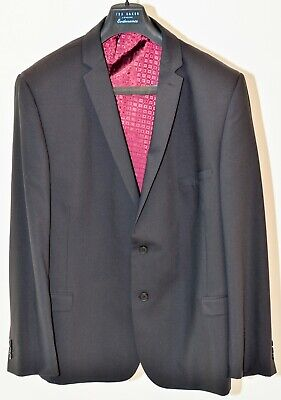 Ted Baker Endurance Men's Black Business Suit Size 52R Jacket with 38R Trousers