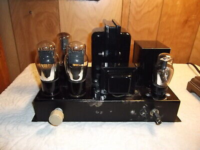 UX 71a / 183 Tube Amplifier Amp Mono Push Pull Type (Video)