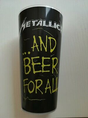 METALLICA And beer for all Pint 50cl verre glass tour 2019 Paris ( no shirt )