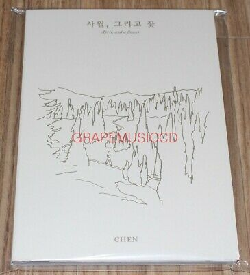 CHEN EXO April, and a flower SMTOWN GIFTSHOP OFFICIAL GOODS POSTCARD BOOK SEALED
