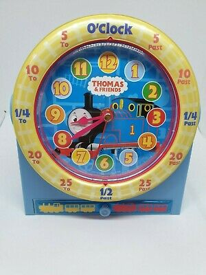 Thomas the Tank Engine Like New Clock with Music and Draw 19.5cm |Tested/Working