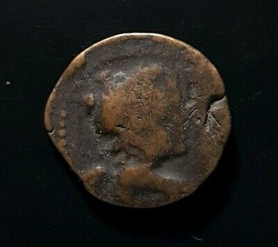 #d666# Greek Seleucid coin of Antiochus VII between 138-129 BC Isis