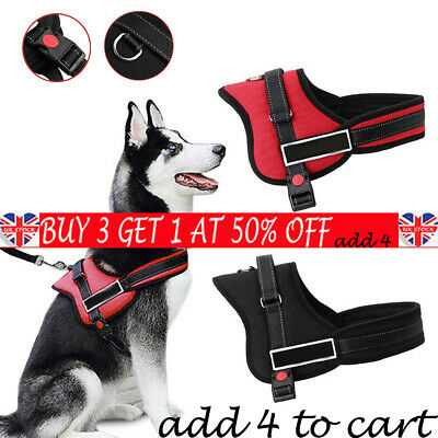 No-pull Dog Harness Outdoor Adventure Pet Vest Padded Handle-Small-Extra LargeBE