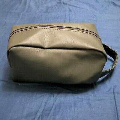 "NEW SEPHORA Dark Green Toiletry Cosmetic Travel Carry Bag 9 x 5"" Inches"