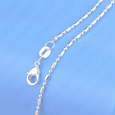 5PCS 22 inch 925 Sterling silver plating Ball Chain Necklaces Wholesale