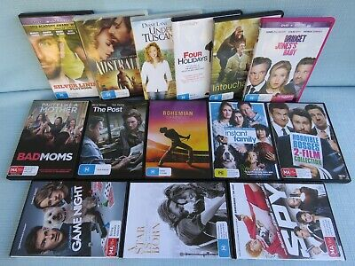 14 x DVD MOVIES BOHEMIAN RHAPSODY INSTANT FAMILY STAR IS BORN POST SPY BAD MOMS