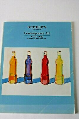 Sotheby's Contemporary Art New York February 1985 Auction Catalogue