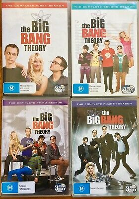 THE BIG BANG THEORY: Complete Seasons 1, 2, 3 & 4 - Comedy (Region 4, 13x DVDs)