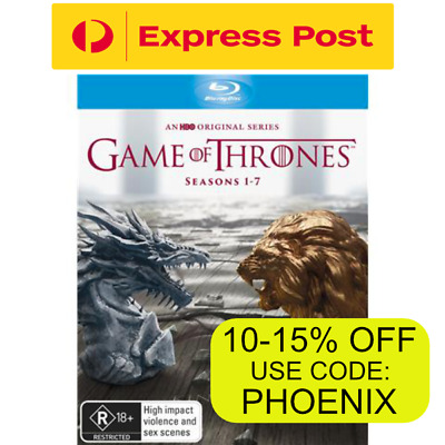 Game Of Thrones The Complete Seasons 1-7 New Sealed Blu-Ray Box Set RB/R4 EXPRS