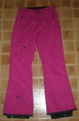 Mint Womens Liquid Insulated Ski Snow Board Pants / Raspberry /   X Small / Xs