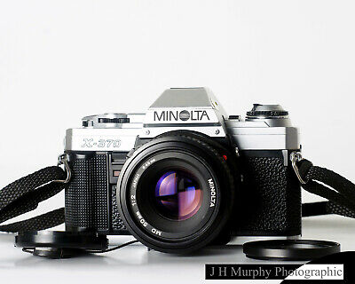 MINOLTA X370 35mm Film Camera w/ 50mm F2 Lens TESTED FULLY WORKING